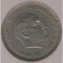 España 25 Pesetas 1957(58) Exc