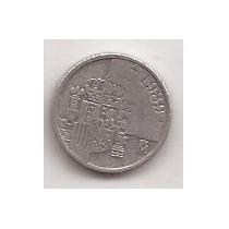 España Moneda De 1 Peseta Año 1989 !!