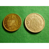 España 1 Y 5 Pesetas 1975 - Rey Juan Carlos I -
