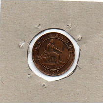 Moneda Dos Céntimos 1870 España