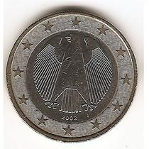 Moneda Alemana De 1 Euro Año 2002 J Km#213
