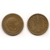 Moneda De España 1 Peseta Año1953 Km#775 Estrellas =19 . 56