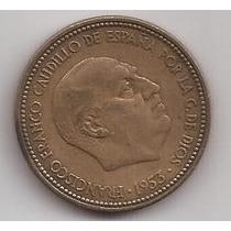 España Moneda De 2 1/2 Pesetas Año 1953 Estrella 54 !!