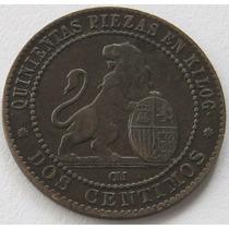 2 Centimos 1870 De España Excelente