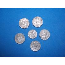 Lote De 6 Monedas Españolas 4/1941 De 10 Céntimos Y 2/1940
