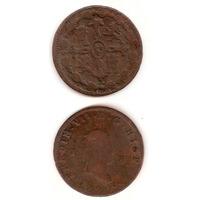 Moneda Spain España 8 Maravedies 1820 Jubia