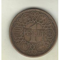 España Moneda De 1 Peseta Año 1944 Km 767 - Muy Buena++