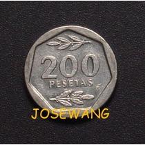 200 Pesetas . Moneda De Español Del Año 1987