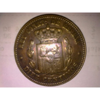 Moneda Española 10 Centesimos Alfonso Xii 1877