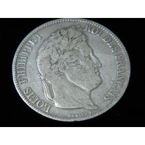 Moneda De Francia De 5 Francos Plata 25 Gramos Año 1832