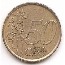 Moneda 50 Centavos De Euro España Año 2000