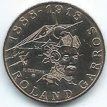 Moneda De Francia 10 Francos 1.988 Roland Garros S/c