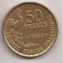Francia Moneda De 50 Francs Año 1952 !!