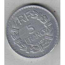 Francia Moneda De 5 Francos Año 1950 B Excelente !!!