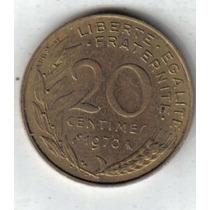 Francia Moneda De 20 Centimes Año 1970 !!!