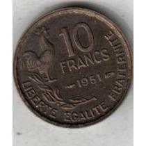 Francia Moneda De 10 Francos Año 1951 !!