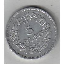 Francia Moneda De 5 Francos Año 1947 B Excelente !!!