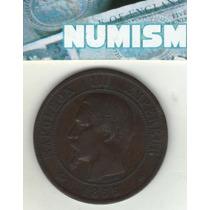 Francia Moneda De 10 Centimes 1855 Bb Km 771.3 - Excelente-
