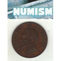 Francia Moneda De 5 Centimes 1856 K Km 777.5 - Excelente