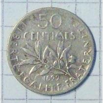 Francia 50 Ctvos Plata 1899