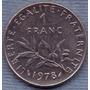 Francia 1 Franc 1978 * Libertad * Republica *