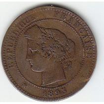 Moneda De Francia. 10 Céntimos 1893 A.