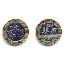 Francia, Moneda De 10 Francos Bimetalica, De 1990