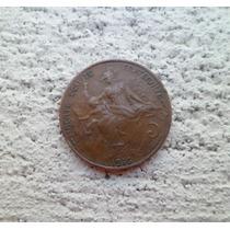 °°° Francia Antigua 5.- Centimes Año 1916 ** M B ** °°° #696