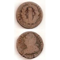 Moneda Francia 2 Sols 1792 B Luis X V I