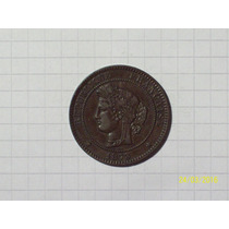 Francia 10 Centavos 1863 K Muy Linda