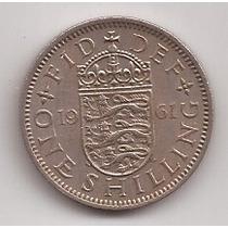 Gran Bretaña Moneda De 1 Shilling Año 1961 !!