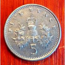 1996 - Inglaterra - 5 Pence - Cuproniquel
