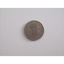 Moneda Gran Bretaña One Shilling Año 1953