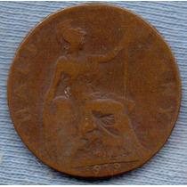 Inglaterra 1/2 Penny 1919 * George V *