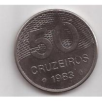 Brasil Moneda De 50 Cruzeiros Año 1983 !!