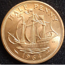 Inglaterra , Half Penny Año 1964.................. Blamanan