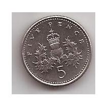 Gran Bretaña Moneda De 5 Pence Año 1996 !!!