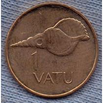 Isla Vanuatu 1 Vatu 2002 * Caparazon * Escudo *