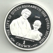 Gibraltar 1 Crown Reyna Madre Año 2001 Plata 28.28 Gr Plata