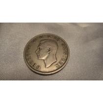 Moneda Antigua Half Crown 1947, 1/2 Corona, Gran Bretaña.