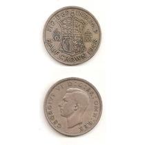 Moneda Inglaterra 1/2 Corona Crown 1948