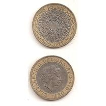 Moneda Inglaterra 2 Libras 1999 Bimetalica