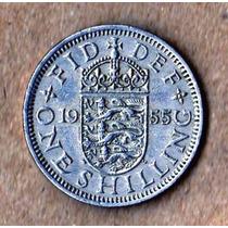 Gran Bretaña Impecable 1 Schilling 1955 -