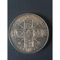 Moneda Inglaterra Florin 1915 De Plata Muy Rara