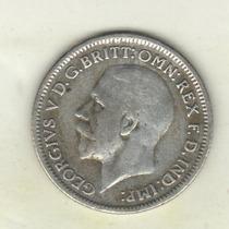 Gran Bretaña Moneda De 6 Pence De Plata Año 1930 Km 832 Xf-