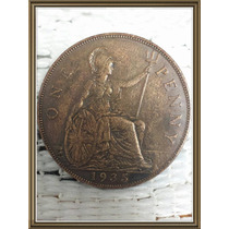 Moneda Inglaterra 1935 One 1 Penny Ref P2-22