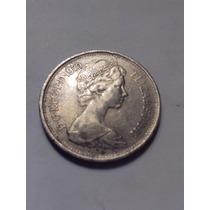 Inglaterra Moneda De 5 New Pence Reina Elizabeth 1970