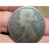 Moneda Inglaterra One Penny 1862 Uk Victoria / Ref (a 33)