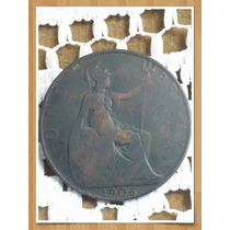Moneda Inglaterra One Penny 1906 Ref P 16 -1