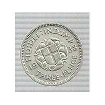 Inglaterra 3 Pence 1938 Plata